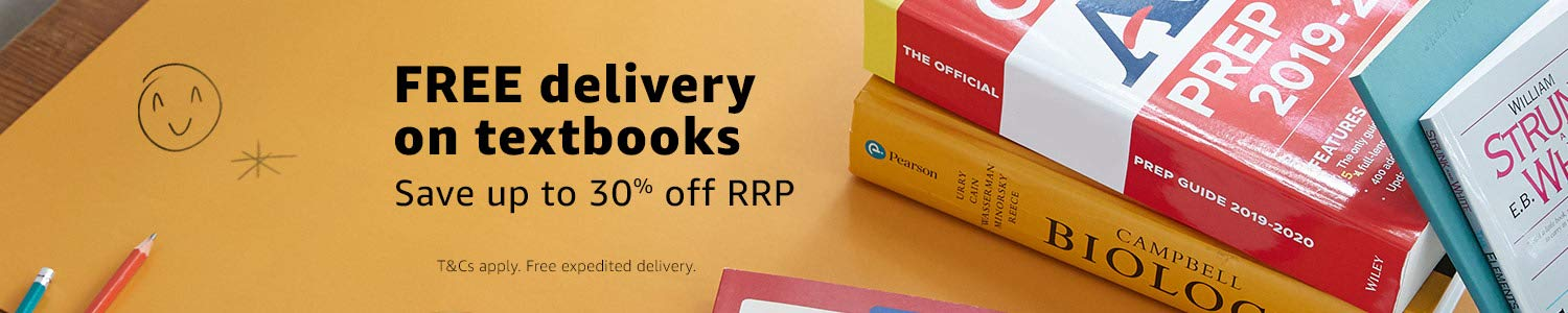 Free delievery and up to 30% off RRP on select Textbooks