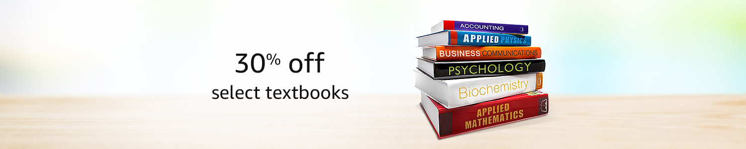 30% off select textbooks