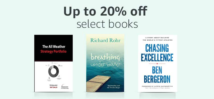 Up 20% off select books