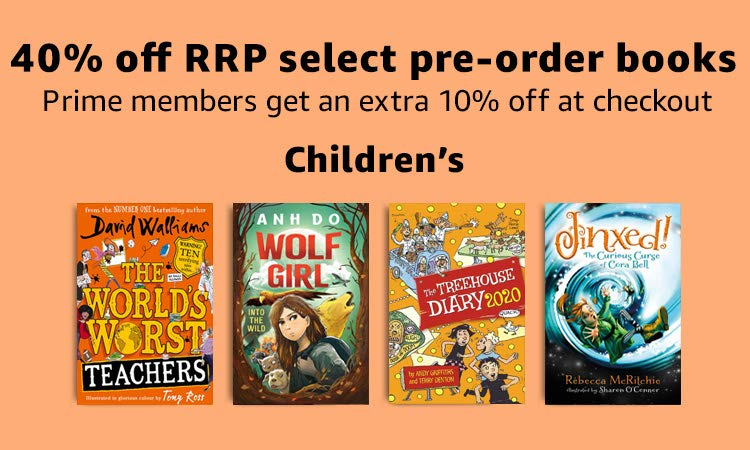 40% off RRP on select Childrens pre-orders