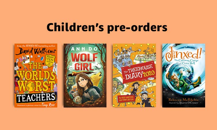 Children's pre-orders, 40% off RRP on select titles