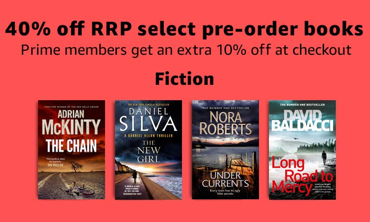 40% off RRP on select Fiction pre-orders