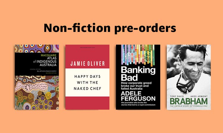 Non-Fiction pre-orders, 40% off RRP on select titles