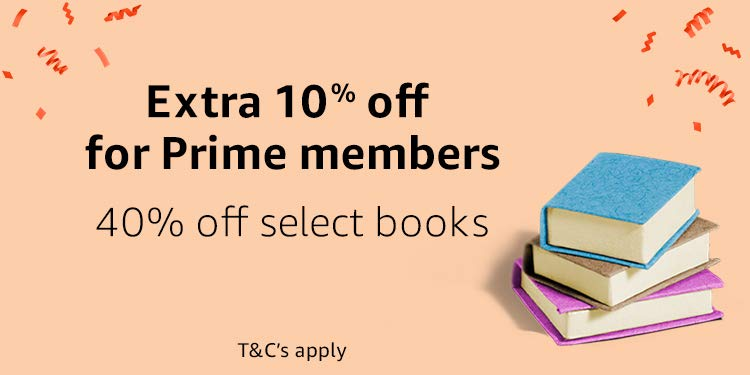 Extra 10% off for Prime Members. 40% off select books