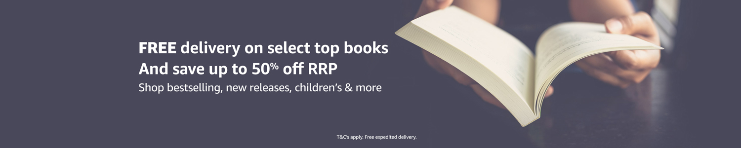 Free delivery and up to 50% off RRP on select books
