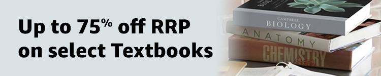 Up to 75% off RRp on select textbooks