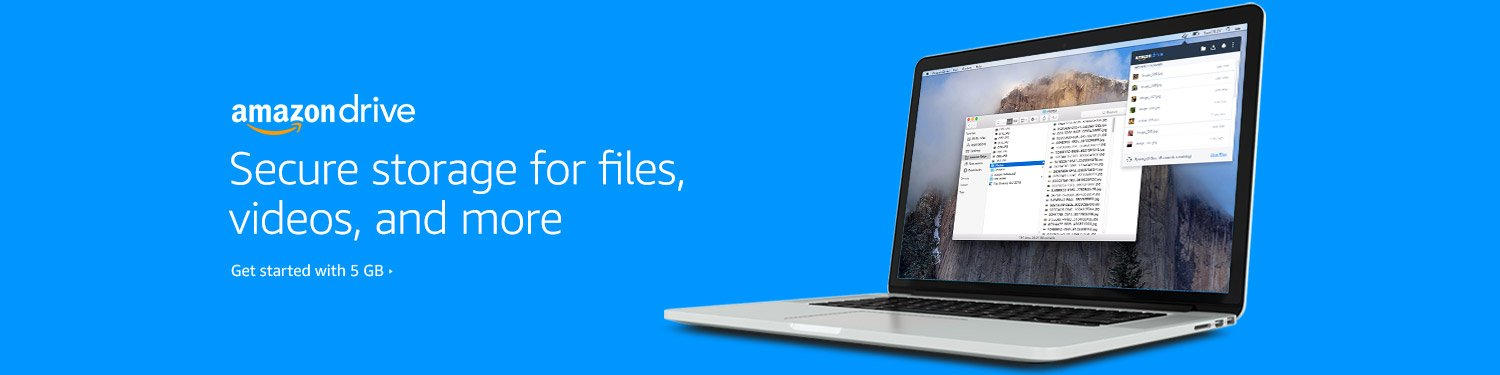 Secure storage for files, videos, and more with Amazon Drive