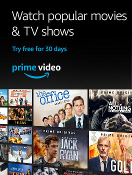 Watch popular movies and TV shows with Prime Video