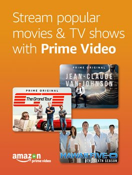 Stream popular movies and TV shows with Prime Video