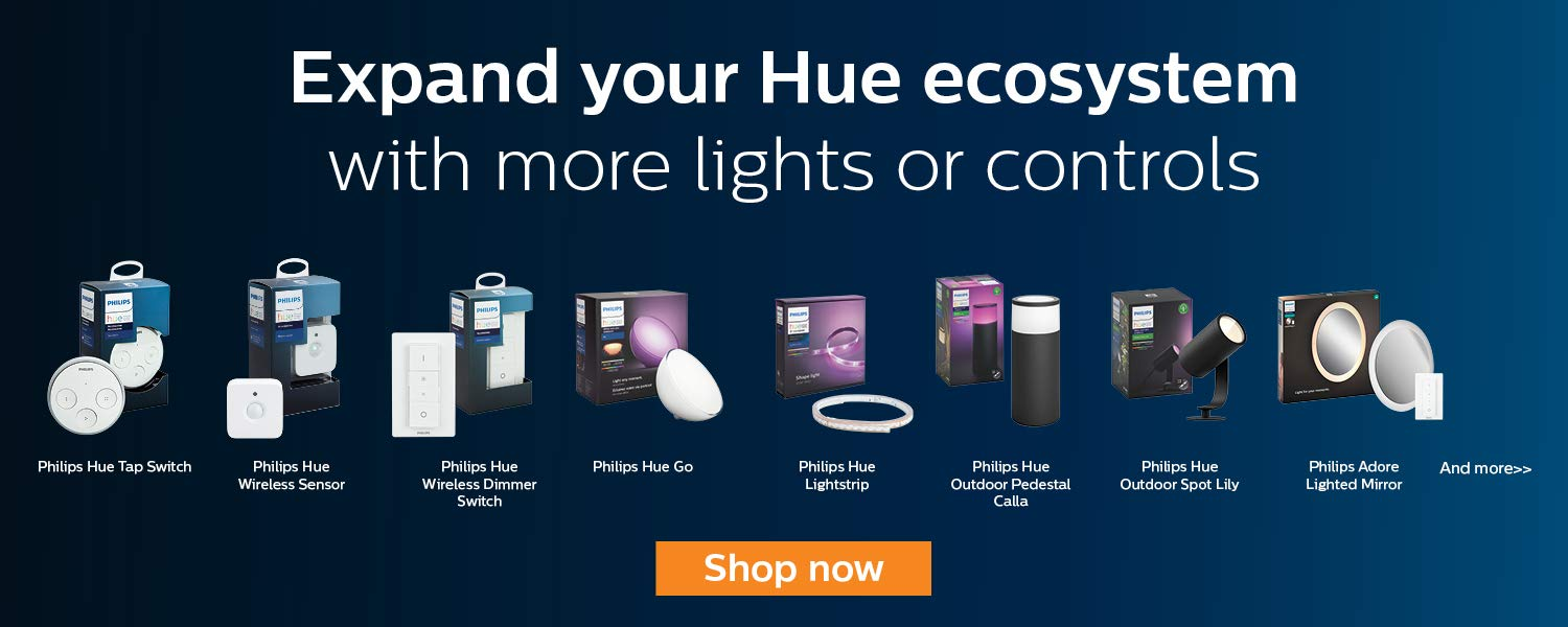 Expand your Hue ecosystem with more lights or controls