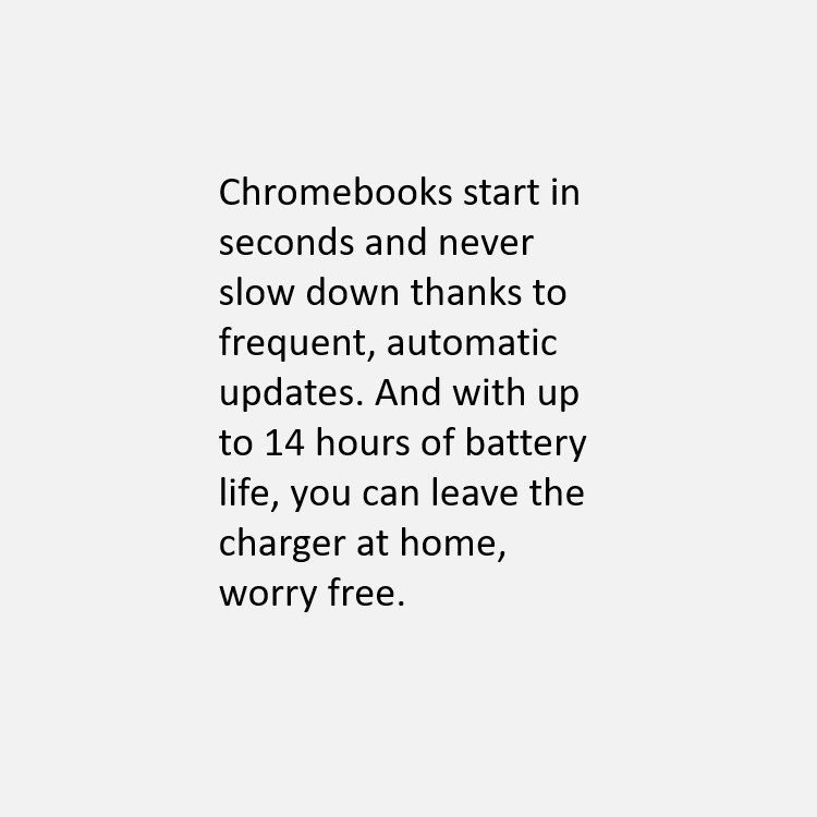 Chromebook 14 hours of battery life