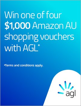 Win one of four $!000 Amazon AU shopping vouchers with AGL