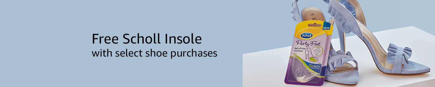 Free Scholl Insole with select shoe purchase