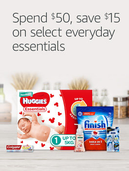 Spend $50, save $15 on select everyday essentials