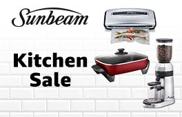 Up to 35% off RRP on select Sunbeam kitchen appliances