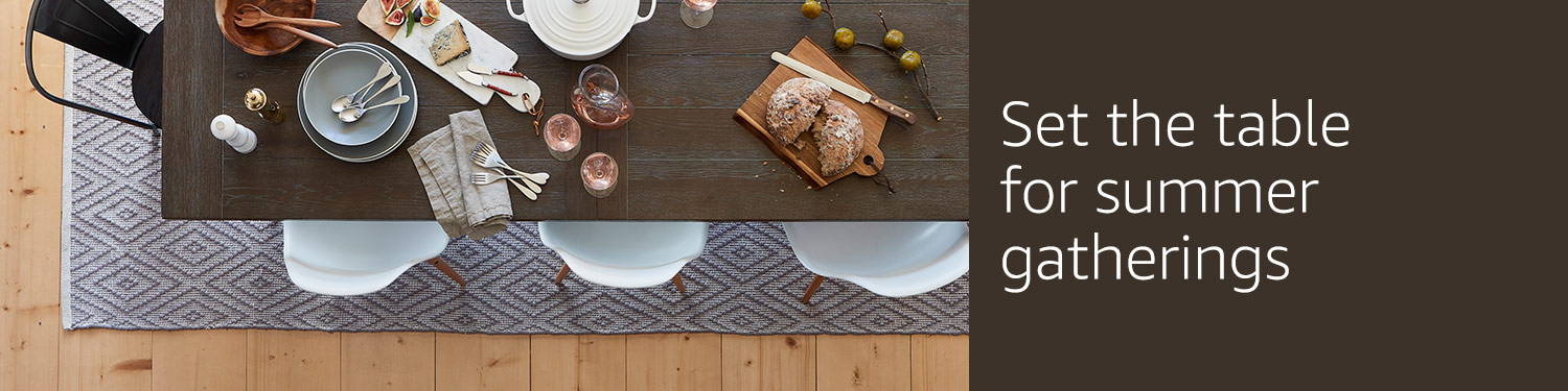 Set the table for summer gatherings