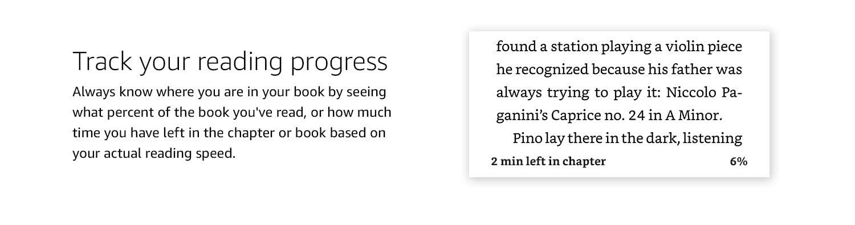 Track your reading progress