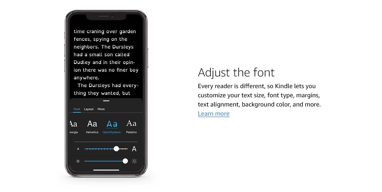 Adjust the font