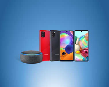 Purchase Samsung Galaxy A11, A31 or A71 smartphones and get a free Echo Dot (3rd gen)