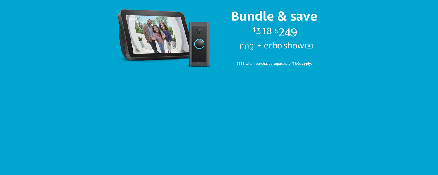 Ring Video Doorbell Wired and Echo Show 8 (2nd Gen) for $249