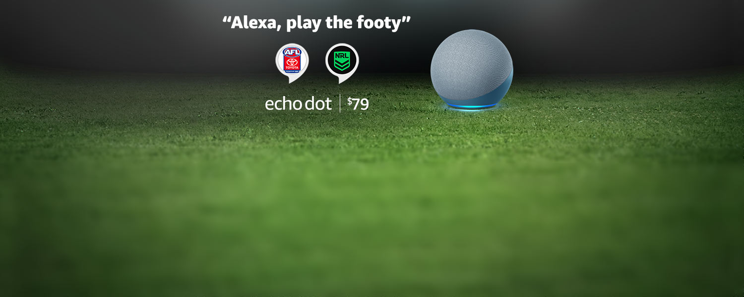 Alexa, play the footy