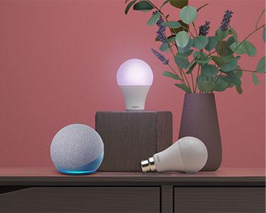 Alexa Echo Dot with Smart Home Lightbulb