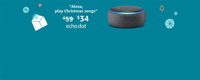 Echo Dot (3rd Gen), now $34