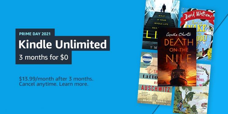 Kindle Unlimited 3 months for $0.00