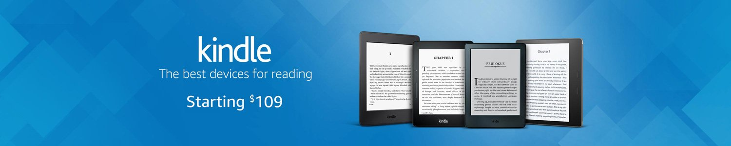 Kindle. The best devices for reading, starting at $109