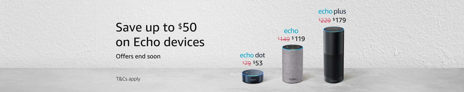 Deals on Echo devices