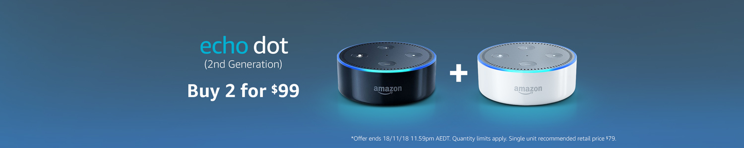 Echo Dot 2nd generation. Buy 2 for $99