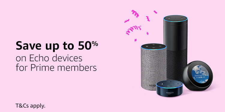 Save up to 50% on Echo Devices