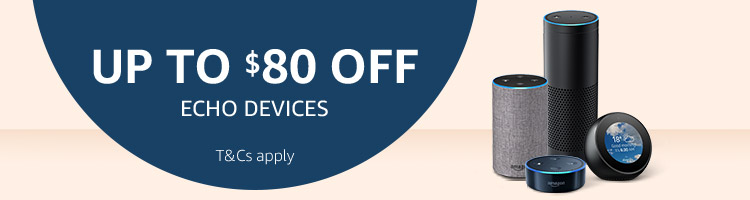 Up to $80 off Echo devices