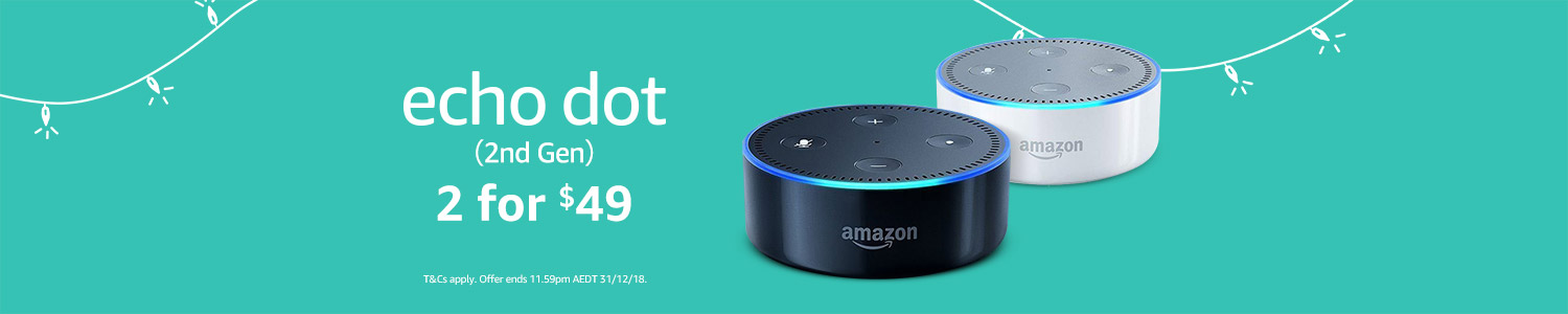 Echo Dot. 2 for $49 or $39 each