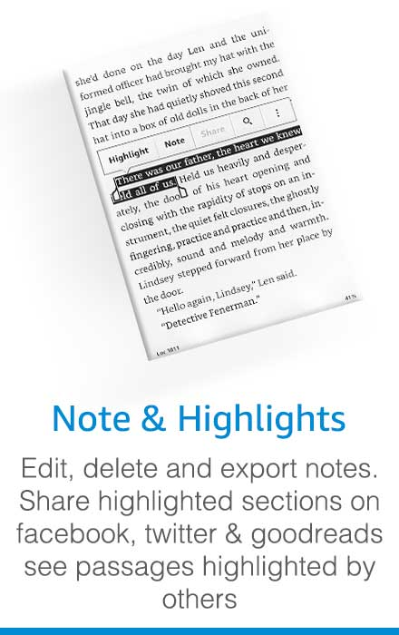 Make notes and highlights in Kindle