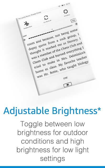 kindle adjustable brightness