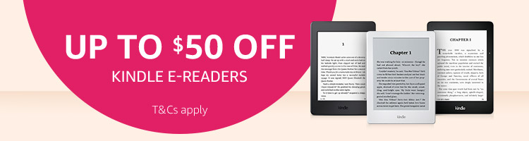 Up to $50 off Kindle E-readers