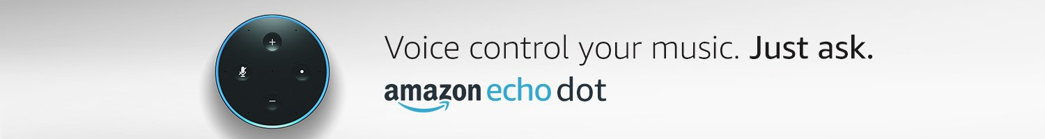 Voice control your music. Just ask. Amazon Echo Dot.