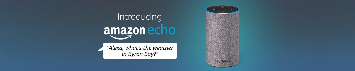 Amazon Echo. What's the weeather in Byron Bay?