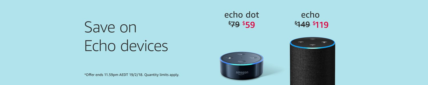 Save on Echo devices. Limited-time offer