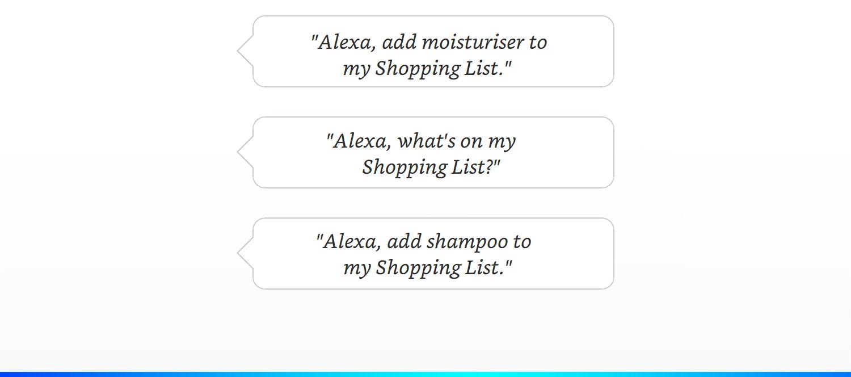 Alexa shopping list