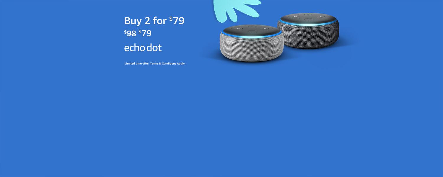 Echo Dot. Buy 2 for $79