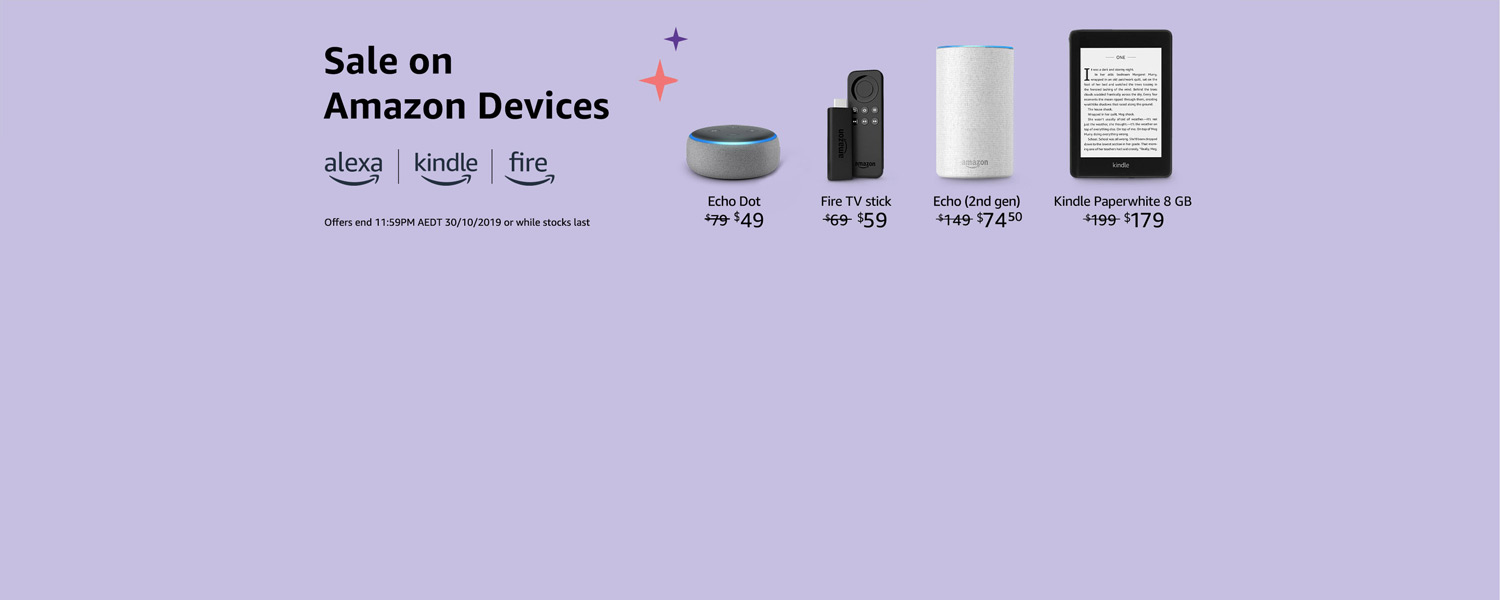 Sale on Devices with Alexa
