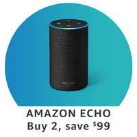 Amazon Echo. Buy 2, save $99