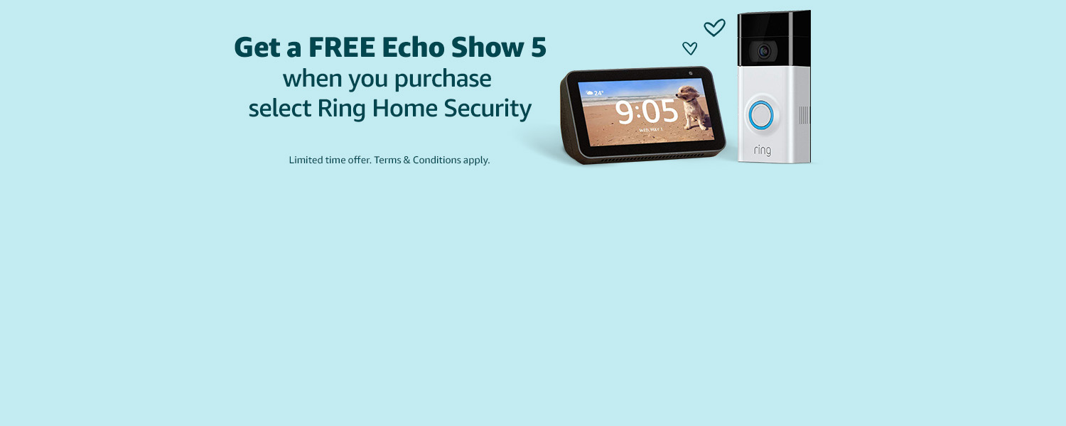 Free Echo Show 5 with Ring Home Security