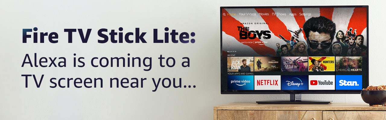 Change the way you stream movies and music with the Fire TV Stick Lite and Alexa Voice Remote Lite.