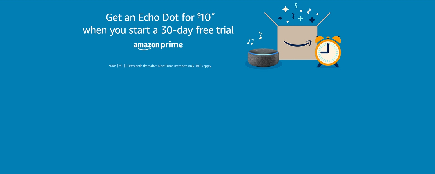 Get an Echo Dot for $10 when you start a 30-day free trial