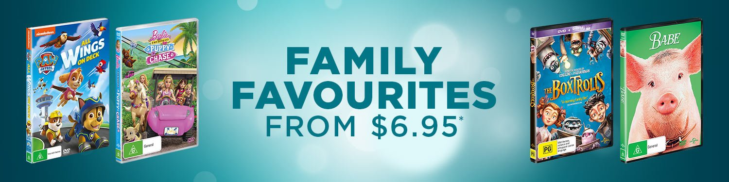 Family Favourites from $6.95