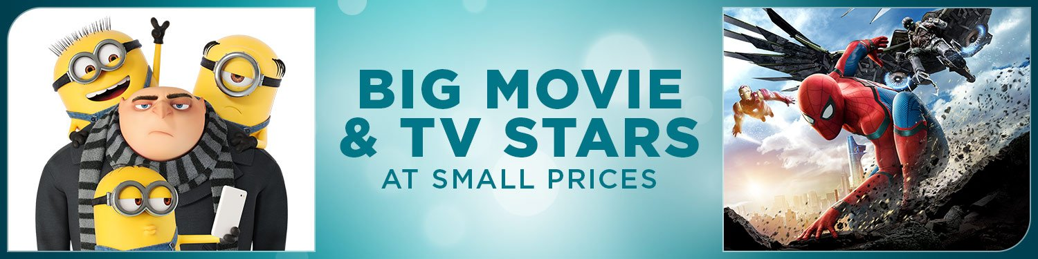 Big Movie and TV Stars at Small Prices