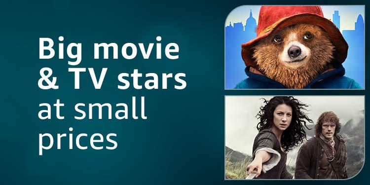 Big movie & TV stars at small prices